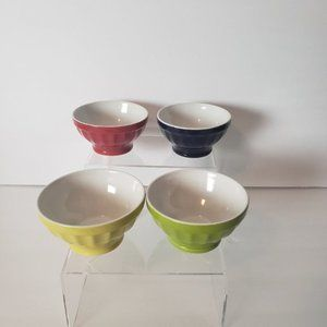 Pier 1 Set of 4 Sauce Bowls Red Blue Green Yellow